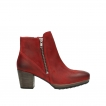 wolky ankle boots 8031 pantua 450 red oiled suede