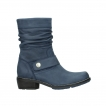wolky mid calf boots 0526 desna 180 dark blue oiled nubuck