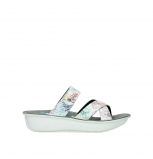 wolky mules 00878 barbados 70980 blanc multi couleur