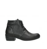 wolky lace up boots 00955 delano 50002 black leather