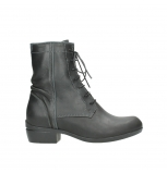 wolky lace up boots 00956 fortuna 50002 black leather