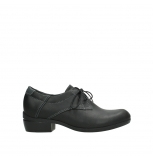 wolky lace up shoes 00958 yuba 50002 black leather