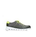 wolky trainers 02051 mega 20219 anthracite yellow leather