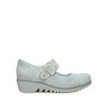 wolky chaussures a bride 03811 silky 49122 suede blanc casse gris
