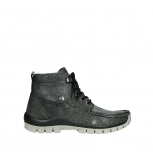 wolky bottines a lacets 04725 jump winter 81280 cuir gris meacutetal
