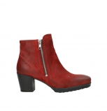 wolky ankle boots 08031 pantua 40501 dark red suede