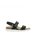 wolky sandalen 08479 dolomite 30070 black leather