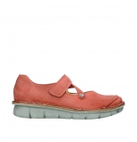 wolky mary janes 08381 roman 10530 coral red nubuck