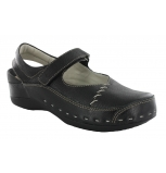 wolky clogs u 06015 strap cloggy 30000 black leather