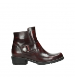wolky bottines 00525 gila 30510 cuir bordeaux