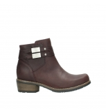 wolky bottines 00571 nero 50510 cuir bordeaux