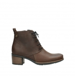 wolky ankle boots 00932 pistol 50300 brown oiled leather