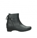 wolky ankle boots 07658 minnesota 10210 mottled metallic anthracite leather
