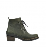 wolky mid calf boots 00474 zapopan 80730 forest green leather