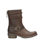 wolky mid calf boots 00572 lis 50300 brown oiled leather