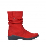 wolky mid calf boots 01572 luna 11505 darkred nubuckleather