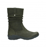 wolky mid calf boots 01572 luna 11732 forestgreen oiled nubuck