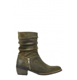 wolky mid calf boots 04155 avril 40730 forest green oiled suede