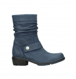 wolky mid calf boots 0526 desna 180 dark blue oiled nubuck