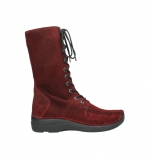 wolky mid calf boots 06210 roll fashion 40510 bordo oiled suede