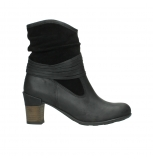 wolky mid calf boots 07741 mendez 40000 black suede