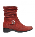 wolky mid calf boots 07815 sapphire 50500 red leather
