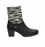 wolky mid calf boots 08030 beacon 90000 black zebraprint leather