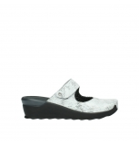 wolky clogs 02576 up 70110 white black canal leather