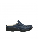 wolky clogs 06202 roll slide 30800 dark blue leather