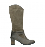 wolky high boots 07742 moss 40150 taupe suede