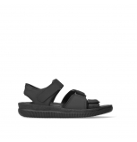 wolky heren sandalen 00722 active 50000 black greased leather