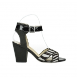 wolky sandalen 04640 nyc 50000 black zebra oiled leather