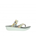 wolky slippers 00877 martinique 12910 white multi nubuck