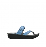 wolky mules 00877 martinique 85800 cuir bleu
