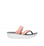 wolky slippers 00877 martinique 95500 white red spots leather