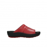 wolky slippers 03326 havana 20500 red leather