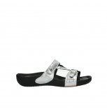 wolky slippers 1010 kukana 612 offwhite snakeprint leather