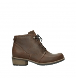 wolky bottines a lacets 00565 real 50300 cuir marron
