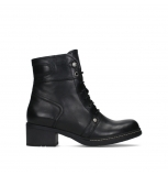 wolky bottines a lacets 01260 red deer 30000 cuir noir