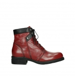 wolky lace up boots 02625 center 20505 dark red leather