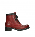 wolky lace up boots 04475 ronda 30505 dark red leather