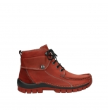 wolky bottines a lacets 04725 jump winter 50540 cuir rouge hiver
