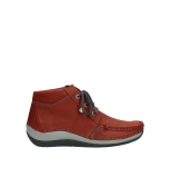 wolky lace up boots 04826 sensation 11542 winter red nubuck