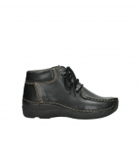 wolky lace up boots 06253 seamy moc 30000 black leather