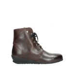 wolky lace up boots 7252 madera 551 burgundy oiled leather