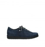 wolky lace up shoes 02420 kinetic 13800 blue nubuckleather
