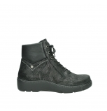 wolky lace up shoes 03252 daydream 43000 black metal suede