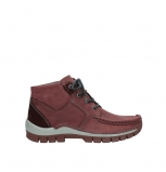 wolky lace up shoes 04735 seamy cross up 10510 burgundy nubuck