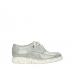 wolky lace up shoes 05025 daylight 20120 off white silver printed leather