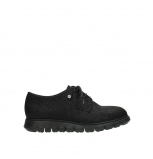 wolky lace up shoes 05025 daylight 90003 black printed suede